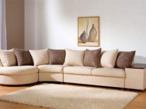 Перетяжка углового дивана на дому в Саратове